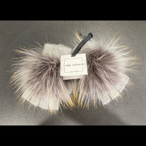 Key Chain Purse Charm Genuine Raccoon Fur Pom Pom NWTLinda Richards